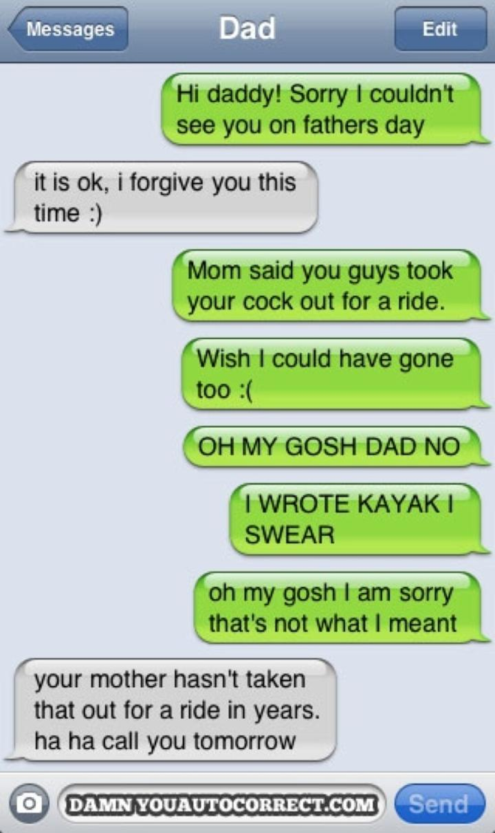 hilarious dad texts 2 father s day ride